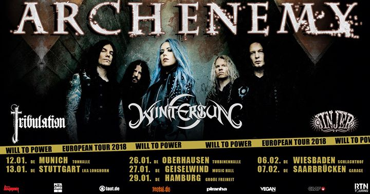 Arch Enemy/Wintersun/Tribulation/Jinjer – Wiesbaden (Schlachthof) 06.02.2018