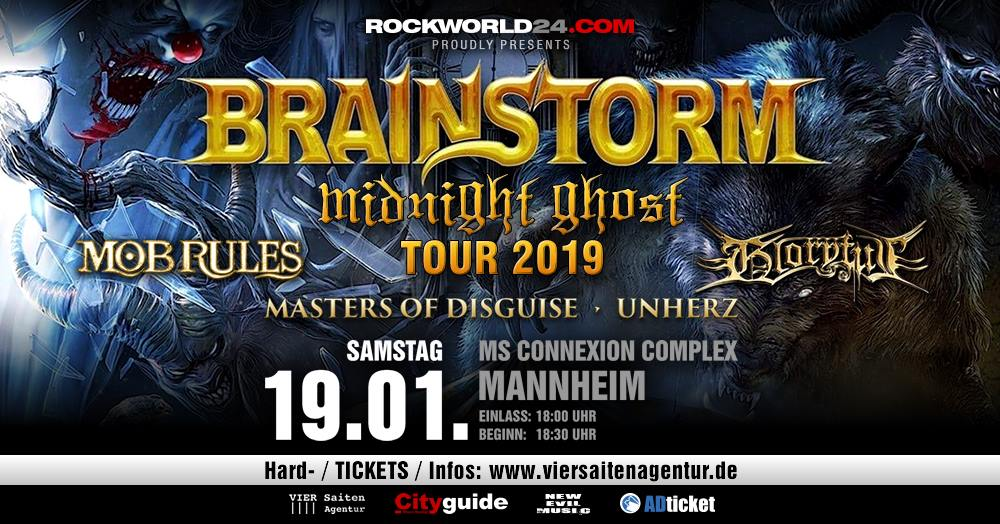 Brainstorm, Mob Rules, Gloryful, Masters Of Disguise (Mannheim 2019)